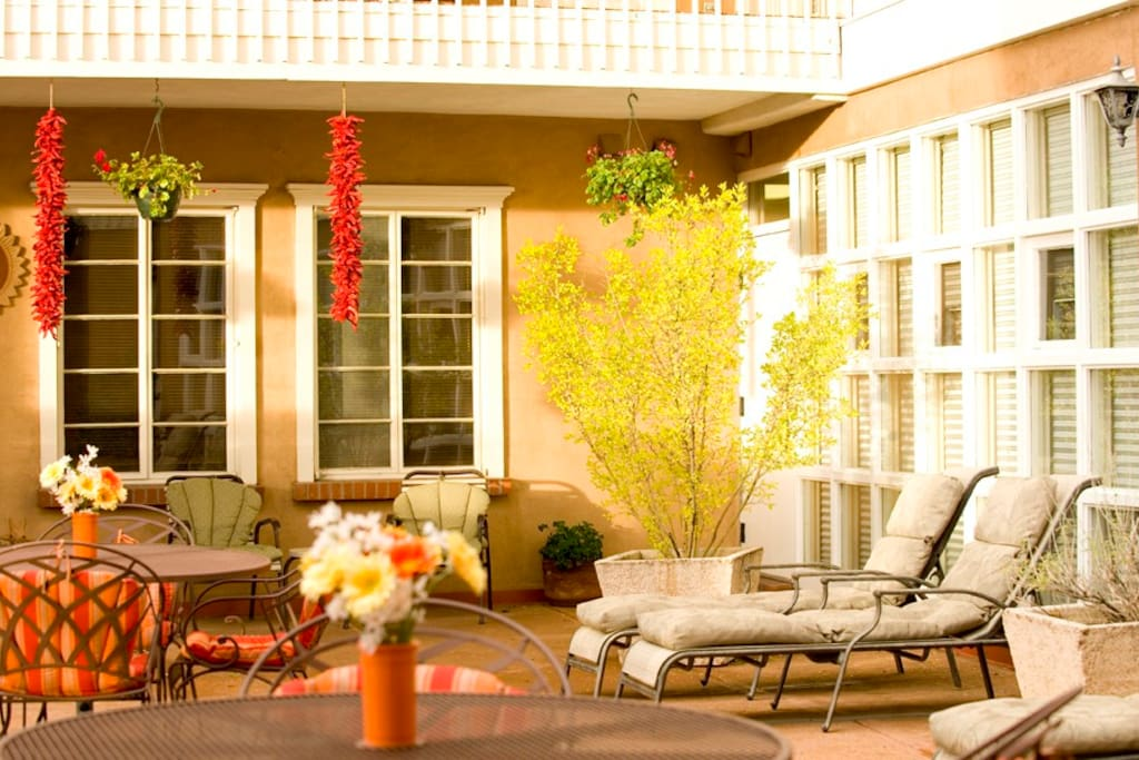 Relaxing patio and deck