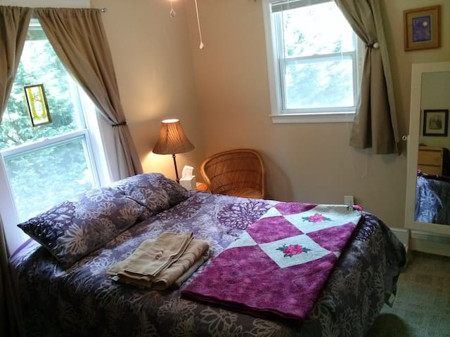 Comfy Room in Friendly Home - Roanoke - Apartmen