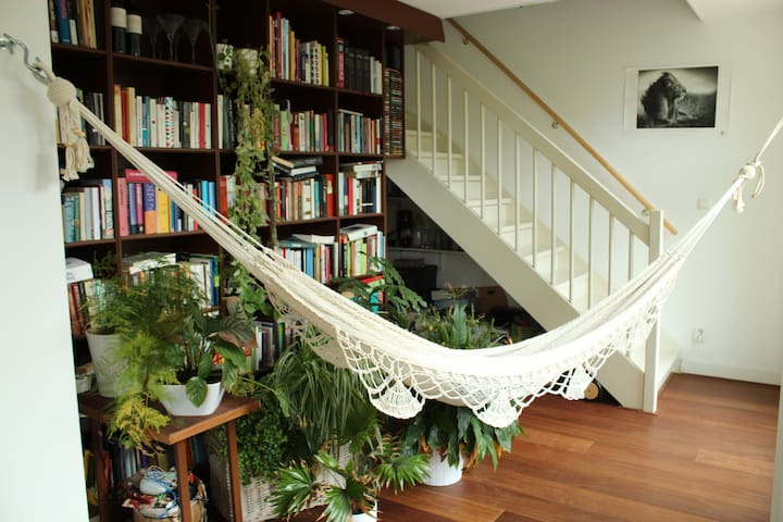 Hammock in our 'library'