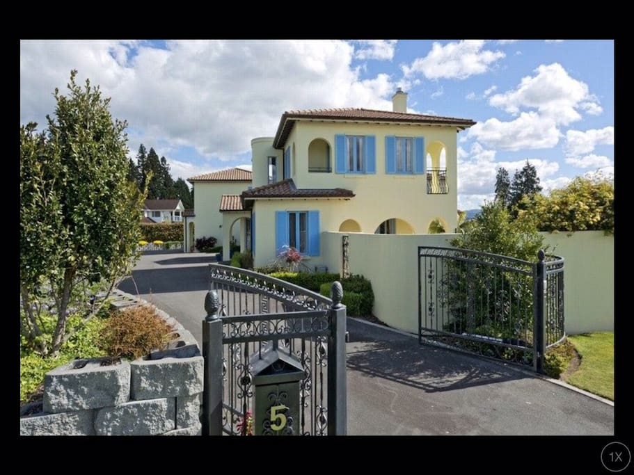 Secure property with gated entry.