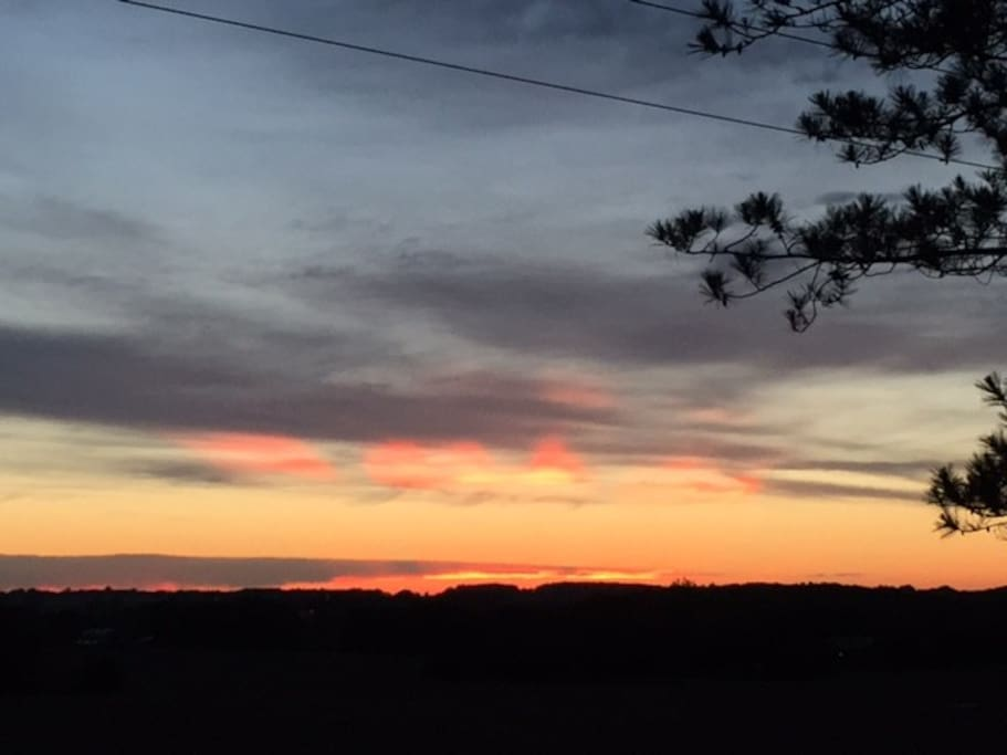 Sunset from the deck