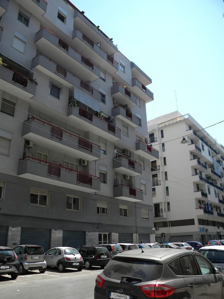 Via Francesco Lattanzio with the view of the balconies