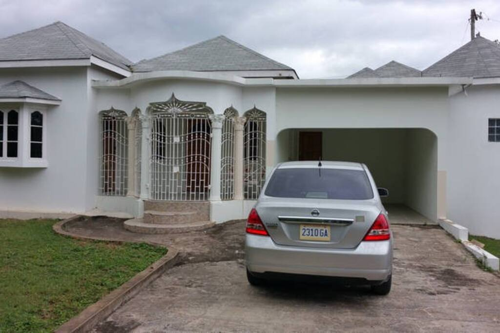 Frontal view of house