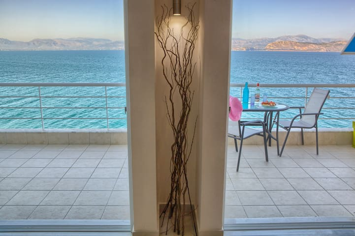 Sea View, Big balcony, 2 Bedrooms,1 Bathroom,75sqm - Κιβέρι Αργολίδας - Apartment