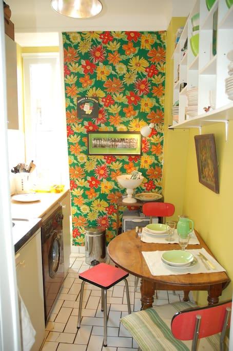 Cuisine joyeuse, fonctionnelle et habitable