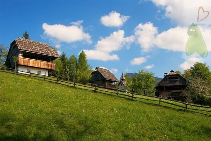 Renovated granary Vrh - Podveža - Casa