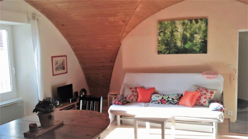 2 chambres sous les toits dans 1 ancienne chapelle