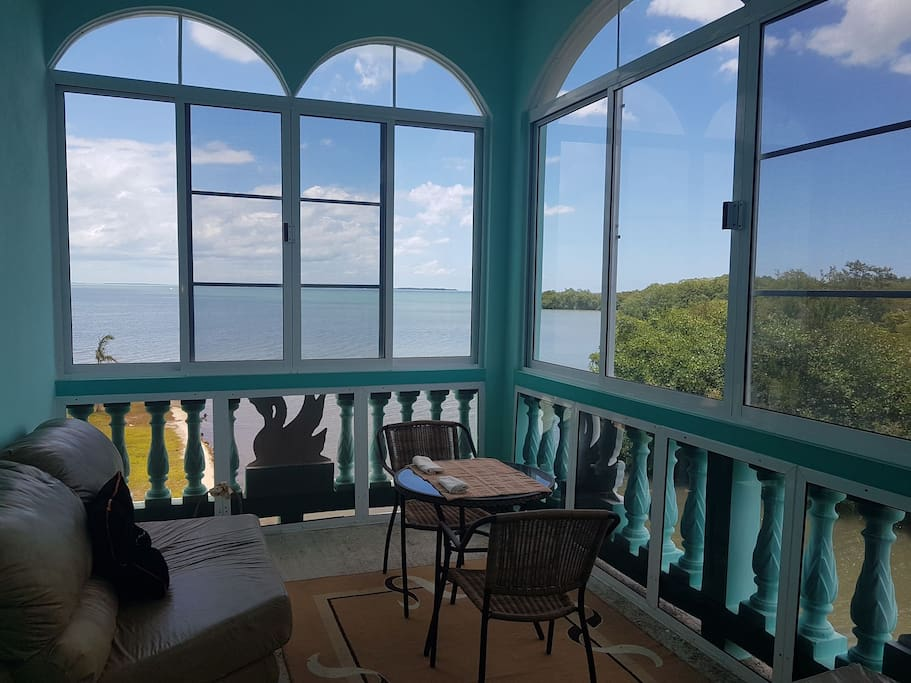 Evening view of the spectacular Caribbean Sea from the comfort of your own sunroom!