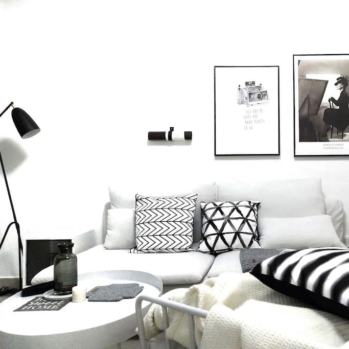 一楼客厅沙发区