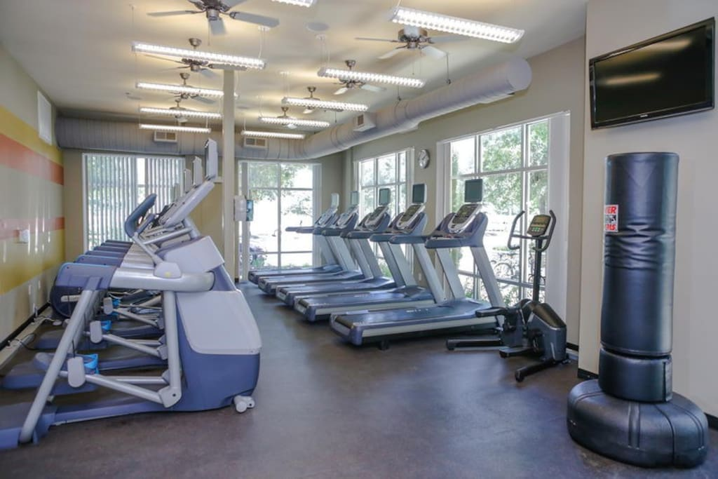 Spacious work out facility