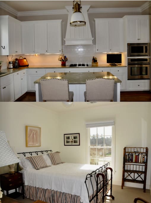 Kitchen and upstairs guest room