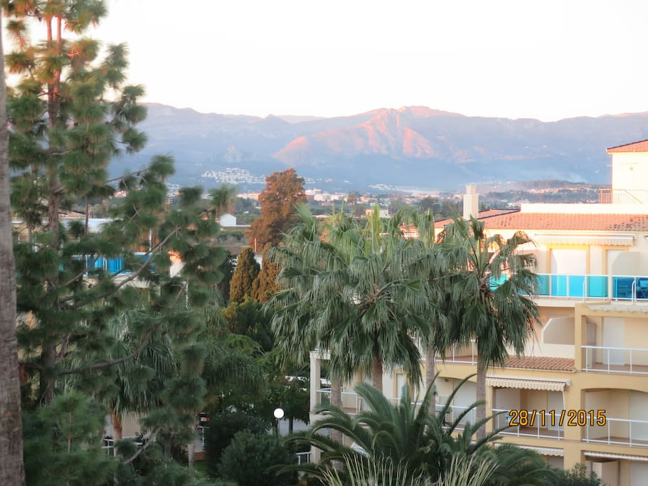 View from the terrace towards the mountain