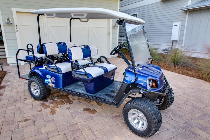 Discounted 2020 Rates!* 6-Seater Golf Cart! Walk to Pool or Beach! - Catch of the Day NatureWalk 30A