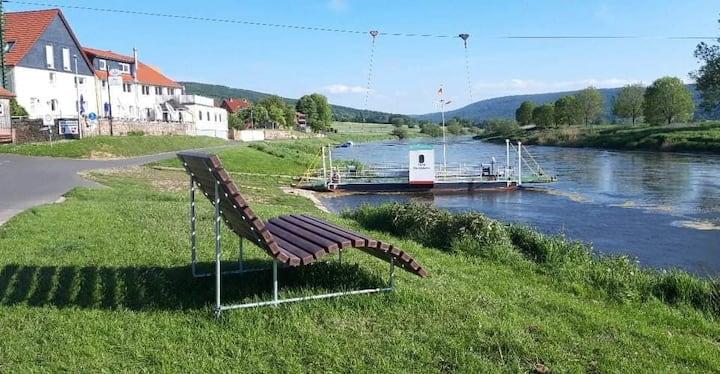 Villa Kuntabunt - Gästezimmer im schönen Wesertal