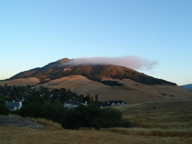Cierro San Luis with the fog rolling in and forming in the evening.