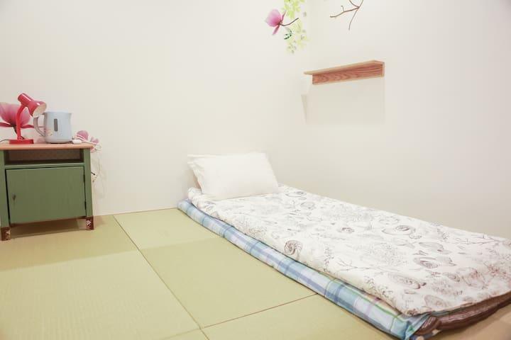 6mins to Meijijingu-Mae stat./2 rooms for 3ppl -DW