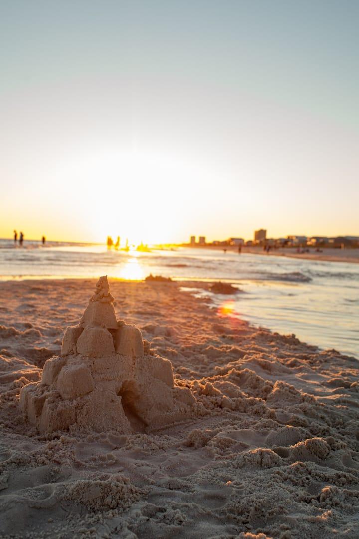 Sundial on the Beach