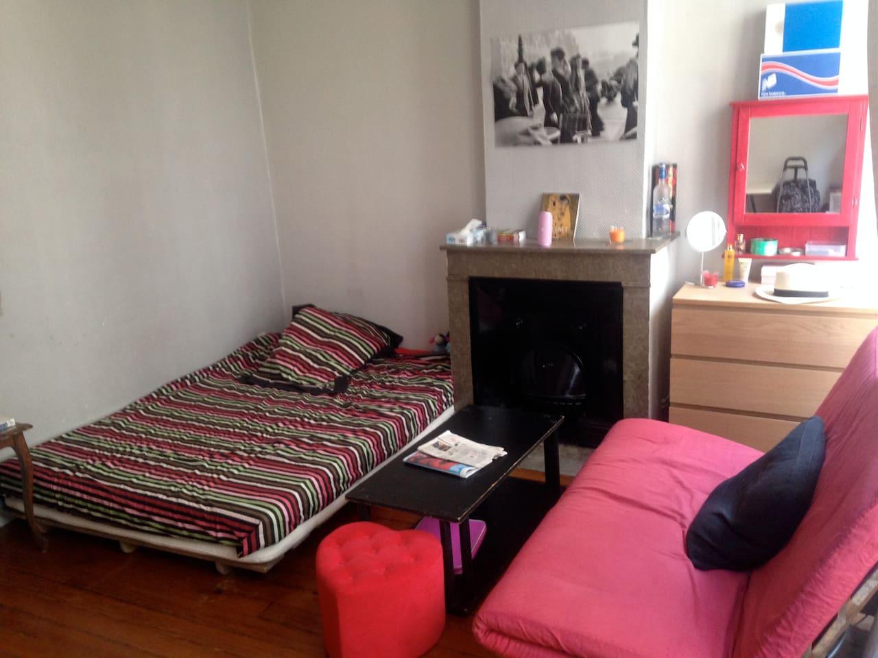 lit 2 places et clic clac futon 2 places