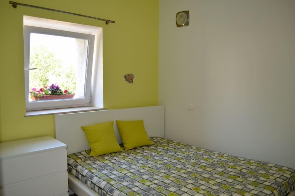 Bedroom with air con.