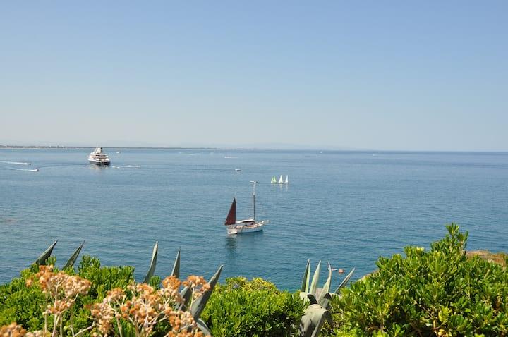 Maison de charme face à la mer, vue imprenable