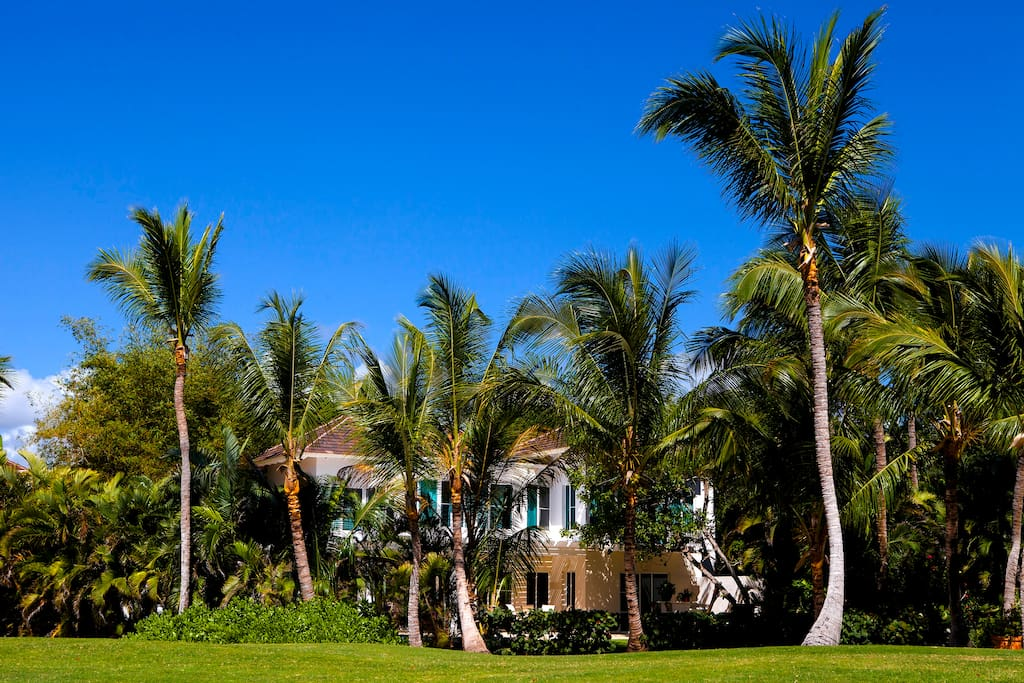 A View of the Villa from La Cana  Golf Course