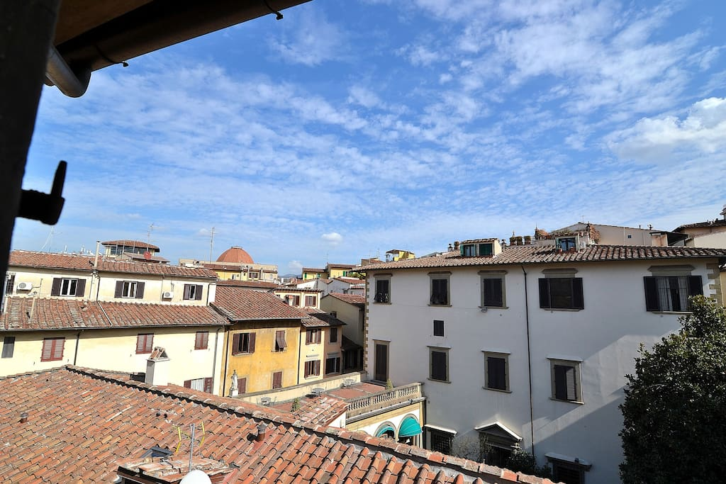 The view from your Loft. Windows faces on Florence rooftops and Antinori Palace