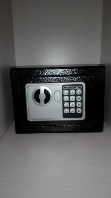 Newly installed safe for your added security