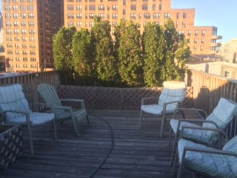 Roof deck (one block from Parkway)