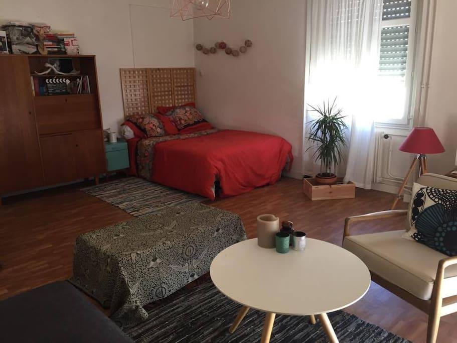 Pour un couple, l'appartement est idéal.