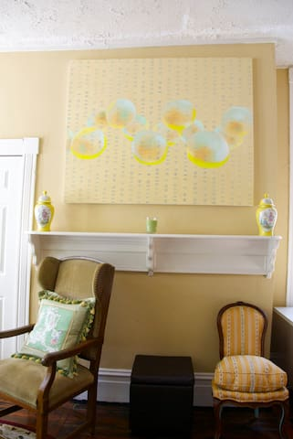 Sun filled studio provides peaceful areas to relax, read or simply enjoy your time.