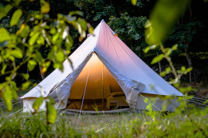 Tent on a RIVER with NATURAL SPA. Exclusive! - Tiglieto
