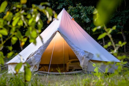 Tent on a RIVER with NATURAL SPA. Exclusive! - Tiglieto - Tenda de campanya