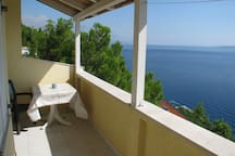 Beautiful views of Adriatic Sea from your terrace with dining area