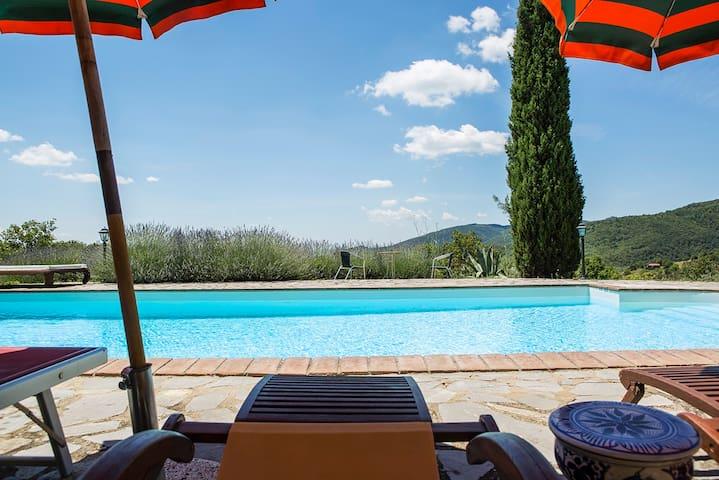 TUSCANY VILLA BELLAVISTA WITH POOL - Castiglion Fiorentino - Villa
