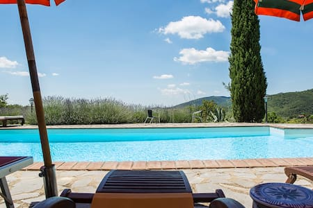 VILLA BELLAVISTA WITH POOL IN TUSCANY
