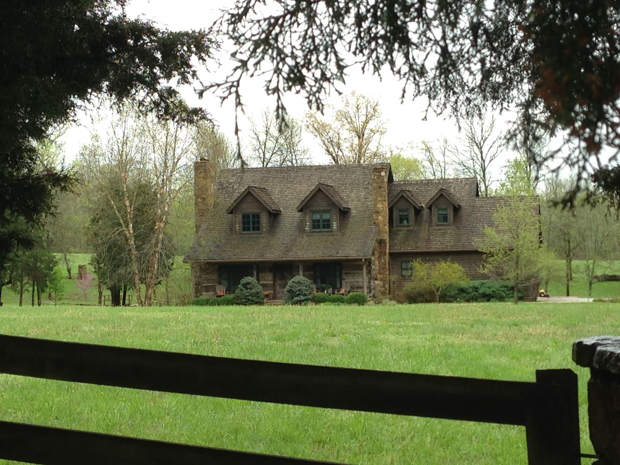FireFly Farm KY built from reclaimed logs hand hewn in 1790s