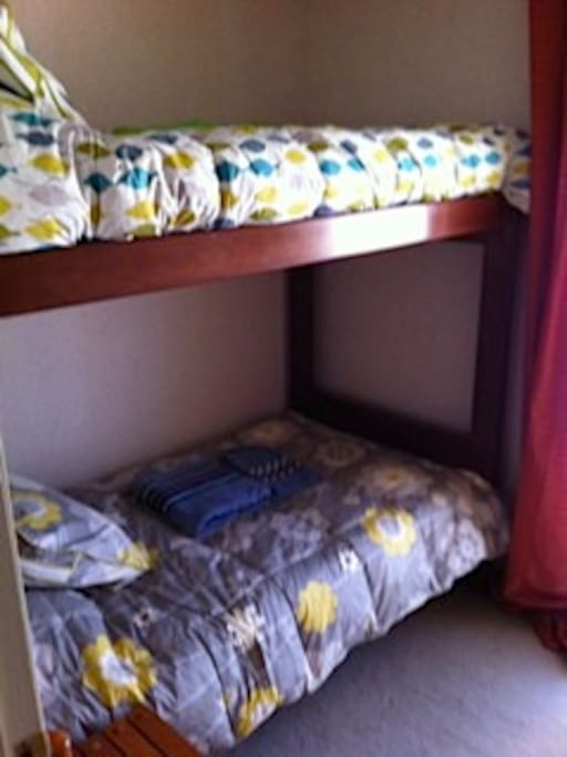 Bunked bed in the third  bedroom