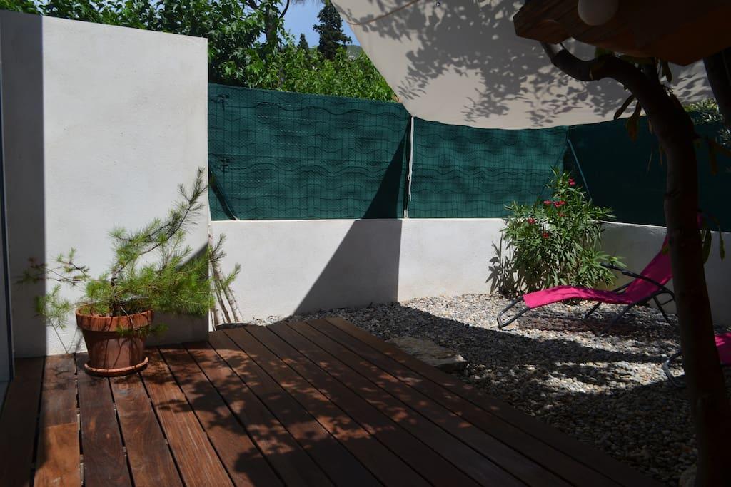 Terrasse privative avec accès indépendant