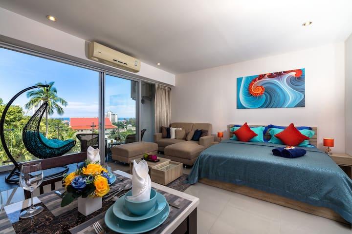 Amazing Seaview Apartment @Karon, beach - 800m