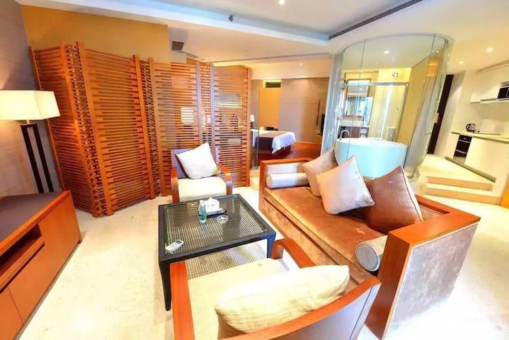 清水湾北纬18度一线海景度假公寓(大床房)