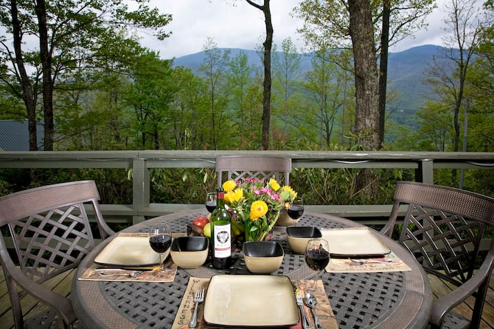 Roaring Fork Chalet Long Range Views Mt Mitchell