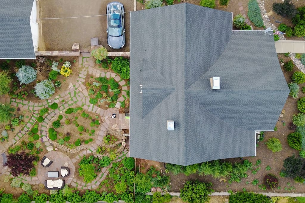 Aerial drone photo of Babbitt House, the backyard is incredible!