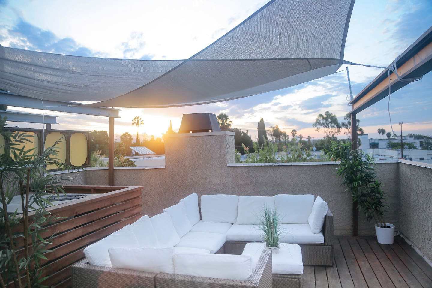 Enjoy sunset cocktails on our private roofdeck!