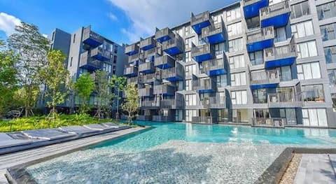 优惠首选 巴东海滩高端公寓5分钟海滩10分钟酒吧街江西冷 完美度假 性价比首选推荐
