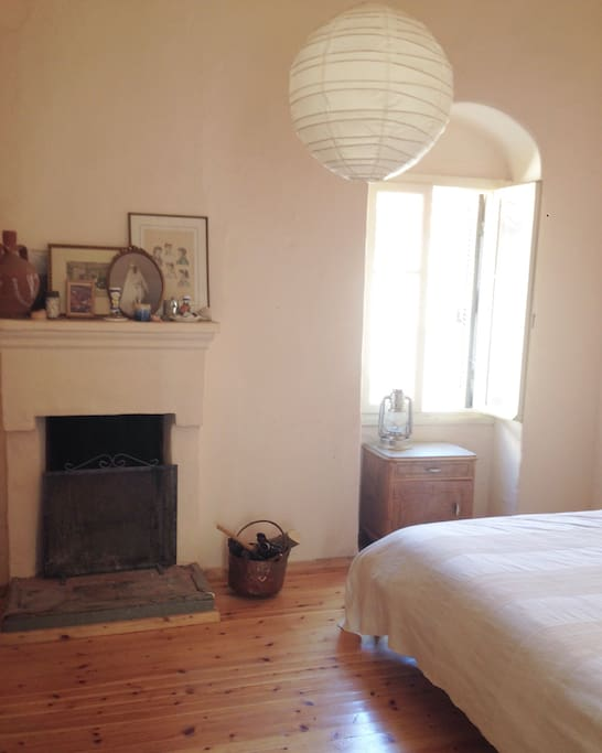 """The """"winter Bedroom"""" with fireplace"""
