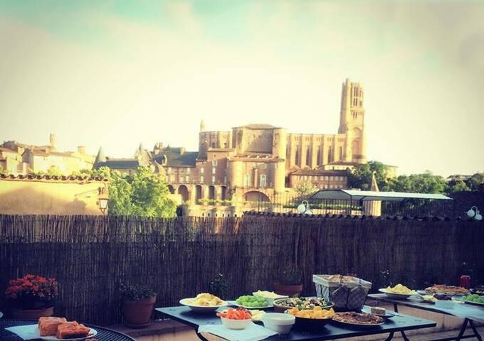 Villa Caroline  - Chambre Equerre - Albi - Bed & Breakfast