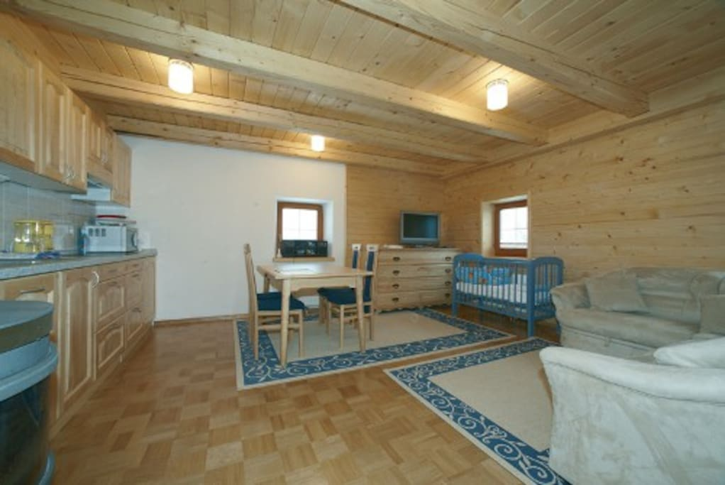 Apartment for 2 - 4 persons, wood, seperatly bedroom.
