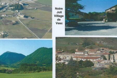 Drome provençale Studio pour 2 pers - Vesc