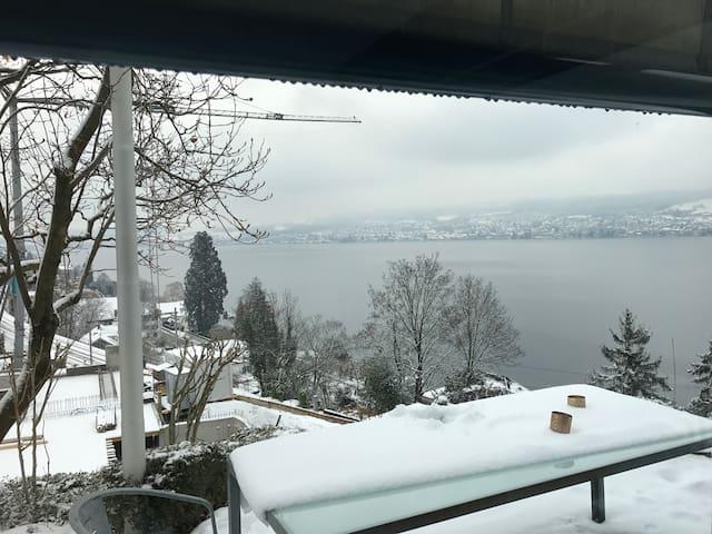 Traumhafte 1.5 Z Wohnung,Seeblick, Zürich, Garten - Herrliberg