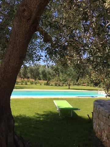 Trullo con piscina nella campagna vicino Ostuni